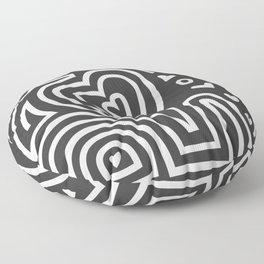 Mola Elephant (Black and White) Floor Pillow