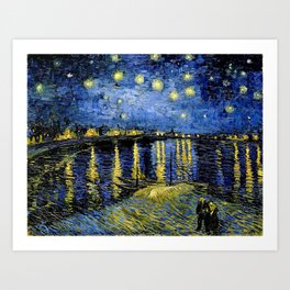 Van Gogh Starry Night Over the Rhône Art Print