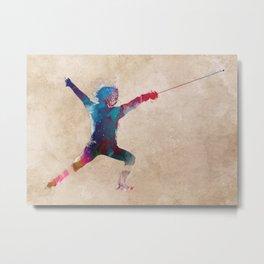 fencing sport art #fencing #sport Metal Print