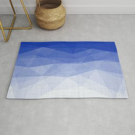 Imperial Lapis Lazuli - Triangles Minimalism Geometry Rug