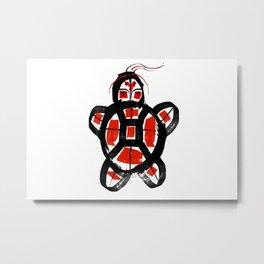 Indigenous Turtle Metal Print