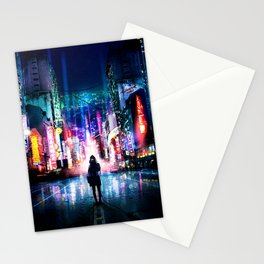 CYBER NIGHT-SCAPE Stationery Cards