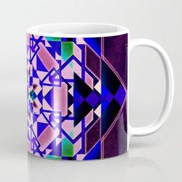 Purple, blue shapes and paterns Coffee Mug
