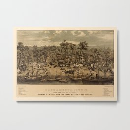 Sacramento 1850 Metal Print
