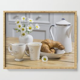 Nostalgic Continental Breakfast Serving Tray