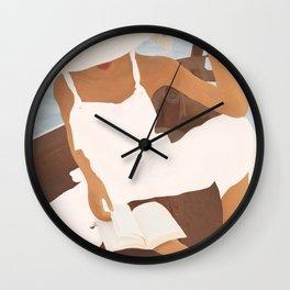 Summer Reading I Wall Clock