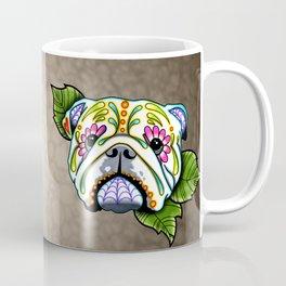 English Bulldog - Day of the Dead Sugar Skull Dog Coffee Mug
