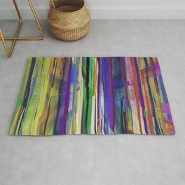 Abstract Multi-coloured Stripes 1410 Rug