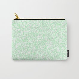 Tiny Spots - White and Mint Green Carry-All Pouch
