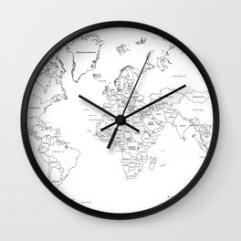 Paint your World Map Wall Clock