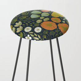 Botanical Sketchbook M+M Navy by Friztin Counter Stool