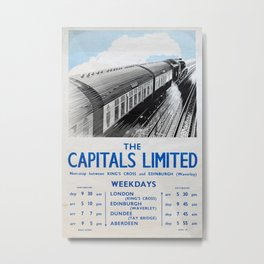The Capitals Limited Vintage Travel Poster Metal Print