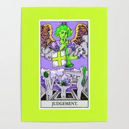 20. Judgement- Neon Dreams Tarot Poster