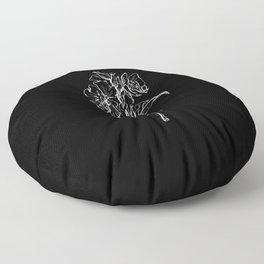 Black Primrose Floor Pillow