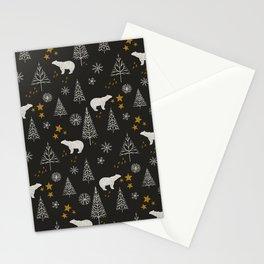 Modern Dark Christmas  Stationery Cards