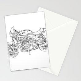 NORTON COMMANDO 961 CAFE RACER 2011, original artwork Stationery Cards