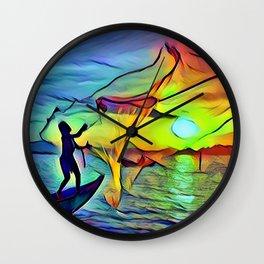 Fishing Day Wall Clock