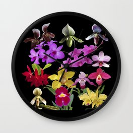 Orchids Galore Wall Clock