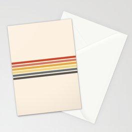 Preda - Classic Motley 70s Vintage Style Retro Stripes Stationery Cards