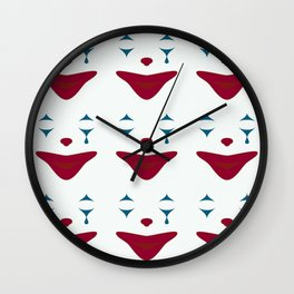 Minimalist Clown Makeup Wall Clock