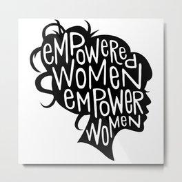 feminism quote Metal Print