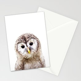 Baby Owl, Baby Animals Art Print By Synplus Stationery Cards