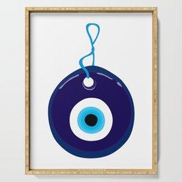Blue Evil Eye Bead Serving Tray