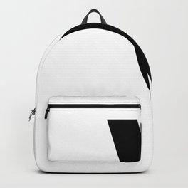 Backslash Symbol (Black & White) Backpack