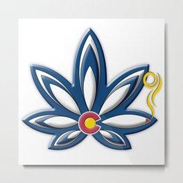 Colorado Cannabis Metal Print