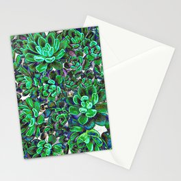 Floral tribute [green] Stationery Cards