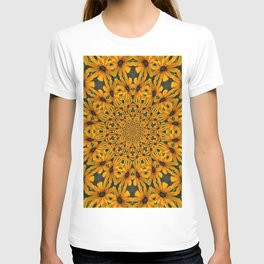 Black Eyed Susan Kaleidescope Mandala T-shirt