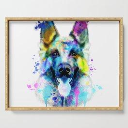 German Shepherd Watercolor, Watercolor Dog print, German Shepherd Print, German Shepherd Art Serving Tray