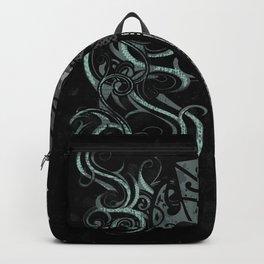 Slate Polynesian Tribal Turtle Grunge Backpack