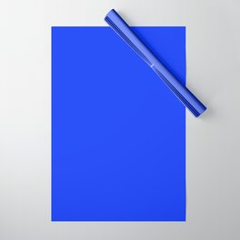NOW GLOWING BLUE solid color Wrapping Paper