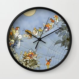 """The Fairy's Birthday"" Illustration by W Heath Robinson Wall Clock"