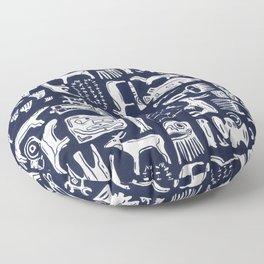 Inuit Eskimo Carvings by Nettwork2Design - Nettie Heron-Middleton Floor Pillow