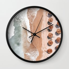 Aerial Beach Print, Beach Photography, Aerial Photography, Blue Ocean Print, Sea Beach Print Wall Clock