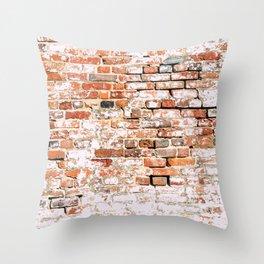 Bricked Throw Pillow