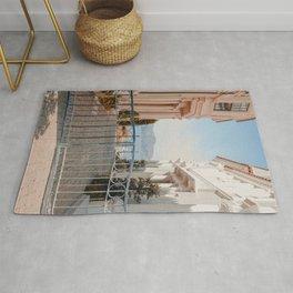 LANDSCAPE PHOTOGRAPHY OF GREY STEEL GATE Rug