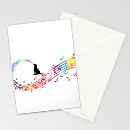 Musical Dog Stationery Cards