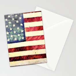 Vintage American Flag Stationery Cards