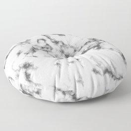 Black & White Marble Floor Pillow