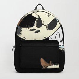 Halloween zombie dog skull Backpack