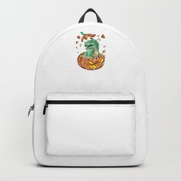 Trex Pumpkin, It's Show Time Funny Halloween Horror Scary Backpack