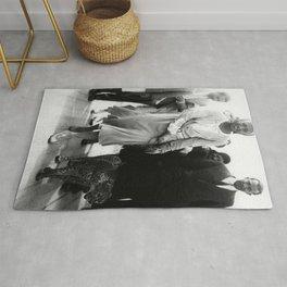 Josephine Baker had a Cheetah Named 'Chiquita' black and white photograph Rug