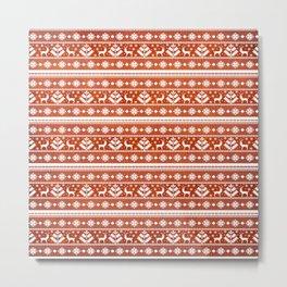 Folk Pattern Metal Print