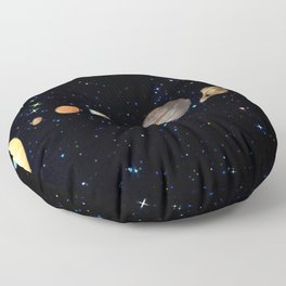Planetary Solar System Floor Pillow