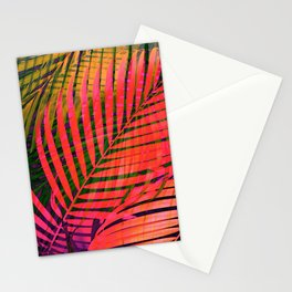COLORFUL TROPICAL LEAVES no4B Stationery Cards