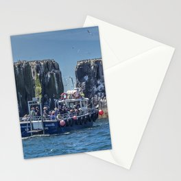 Passengers on board a boat at the farne Islands, Northumberland Stationery Cards
