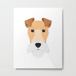 Fox Terrier dog Metal Print